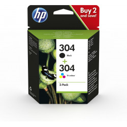 HP 304 2-Pack Black/Tri-color (3JB05AE)