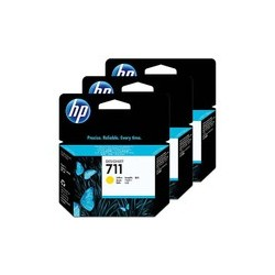 HP CZ136A Ink Yellow No.711 **3-Pack**