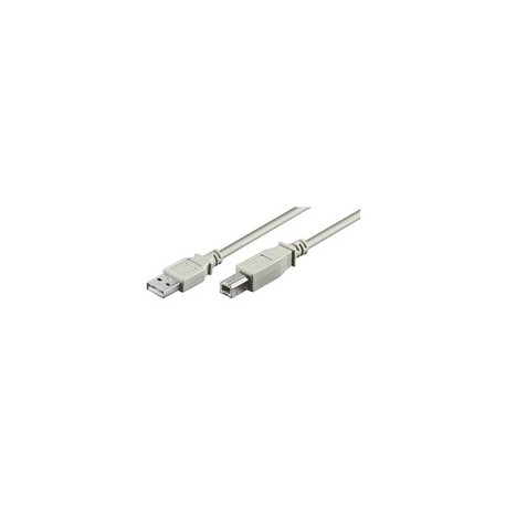 CABLE USB MALE/MALE TYPE A VERS TYPE B 5 METRES